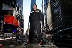 John D' Espostio founder of The Bamboozle, Skate and Surf and The Hoodwink Festivals poses for a photograph in Times Square, New York City, NY...Feb. 4,2010.MARK R. SULLIVAN/markrsullivan.com © 2010