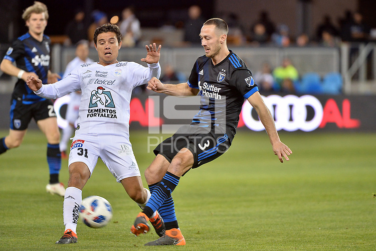 San Jose, CA - Saturday March 24, 2018: Claudio González, Francois Affolter during an international friendly between the San Jose Earthquakes and Club Leon FC at Avaya Stadium.