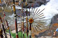 Wooden tribal artifacts, Datanla Waterfall, Da Lat, Vietnam