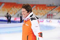SPEEDSKATING: SOCHI: Adler Arena, 21-03-2013, Training, Desly Hill (assistent trainer Team LIGA), © Martin de Jong
