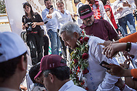 June 11, 2018: Andres Manuel Lopez Obrador, an opposition candidate of MORENA party running for presidency, during his campaign rally at Comitan de Dominguez's municipality in Chiapas, Mexico. National elections will be hold on July 1.