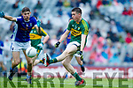 Eddie Horan Kerry in action against Patrick Meade Cavan in the All Ireland Minor Semi Final in Croke Park on Sunday.