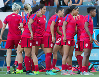 Carson, CA - Thursday August 03, 2017: USWNT during a 2017 Tournament of Nations match between the women's national teams of the United States (USA) and Japan (JAP) at StubHub Center.