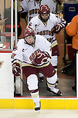 Ben Smith (BC - 12), Pat Gannon (BC - 13) - The Boston College Eagles defeated the visiting Northeastern University Huskies 7-1 on Friday, March 9, 2007, to win their Hockey East quarterfinals matchup in two games at Conte Forum in Chestnut Hill, Massachusetts.