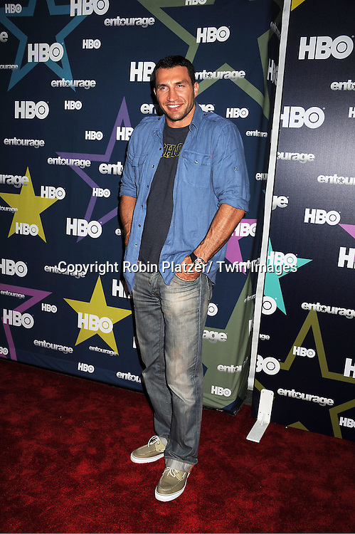 """Wladimir Klitschko attending The Eighth and Final Season Premiere of the HBO Show """"Entourage"""" on July 19, 2011 at The Beacon Theatre in New York City."""