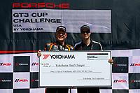 Porsche GT3 Cup Challenge USA<br /> Sonoma Raceway<br /> Sonoma Raceway, Sonoma, CA USA<br /> Sunday 17 September 2017<br /> Porsche GT3 Cup Challenge USA, Race 2, Yokohama Hard Charger Award<br /> World Copyright: Jake Galstad<br /> LAT Images