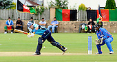 Scotland V Afghanistan, One Day International, at New Cambusdoon, Ayr - Scots Fraser Watts was the best home batsman, and worked hard for his 55, before falling to spinner Samiullah Shiwari - keeper is Mohammed Shazad - Picture by Donald MacLeod 16.08.10 - mobile 07702 319 738 - clanmacleod@btinternet.com