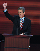 St. Paul, MN - September 3, 2008 -- United States Senator Norm Coleman (Republican of Minnesota) speaks on day 3 of the 2008 Republican National Convention at the Xcel Energy Center in Saint Paul, Minnesota on Wednesday, September 3, 2008.Credit: Ron Sachs / CNP