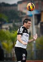 SÃO PAULO,SP,19 JULHO 2013 - TREINO CORINTHIANS -  Chicão durante treino do Corinthians  no CT Joaquim Grava na zona leste de Sao Paulo,na tarde desta sexta feira.O time se prepara para o jogo contra o Atletico Paranaense.FOTO ALE VIANNA - BRAZIL PHOTO PRESS.