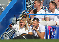 Chelsea Women's Manager, Emma Hayes chats with Chelsea Women's Goalkeeping Coach, Stuart Searle during Chelsea Women vs Tottenham Hotspur Women, Barclays FA Women's Super League Football at Stamford Bridge on 8th September 2019
