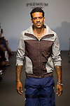 NBA Basketball Player Matt Barnes on the Runway: New Premium Lounge Signed by INDASHIO Men's Collection Fashion Show at AUDI FORUM, NY 9/13/11