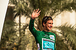 Bryan Coquard (FRA) Vital Concept Cycling Club wins Stage 1 and wears the first Green Jersey of the 2018 Tour of Oman running 162.5km from Nizwa to Sultan Qaboos University. 13th February 2018.<br /> Picture: ASO/Muscat Municipality/Kare Dehlie Thorstad | Cyclefile<br /> <br /> <br /> All photos usage must carry mandatory copyright credit (&copy; Cyclefile | ASO/Muscat Municipality/Kare Dehlie Thorstad)