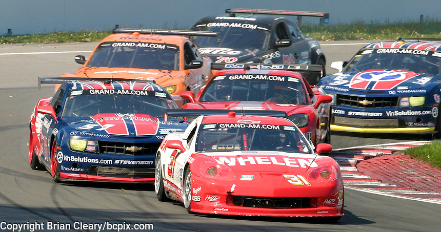 The #31 Corvette of Boris Said and Eric Curran leads the pack at the start of  the Montreal 200, Circuit Gilles Villenueve, Montreal, Quebec, Canada, August 2010.  (Photo by Brian Cleary/www.bcpix.com)