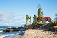 64795-00816 Point Betsie Lighthouse on Lake Michigan, Benzie County, Frankfort, MI