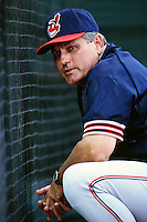 Cleveland Indians Manager Mike Hargrove during a game against the Anaheim Angels at Angel Stadium circa 1999 in Anaheim, California. (Larry Goren/Four Seam Images)