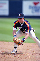 Houston Astros Jeff Bagwell during Spring Training 1992 at Chain of Lakes Park in Winter Haven, Florida.  (MJA/Four Seam Images)