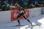 25/01/2015, Anterselva - Antholz - IBU Biathlon World Cup 2015 - Antholz -   Anterselva - Italy<br /> Enora Latuilliere (FRA) competes at the relay in Anterselva - Antholz, Italy on 25/01/2015. Germany's team with Franziska Hidelbrand, Franziska Preuss, Luise Kummer and Laura Dahlmeier wins.