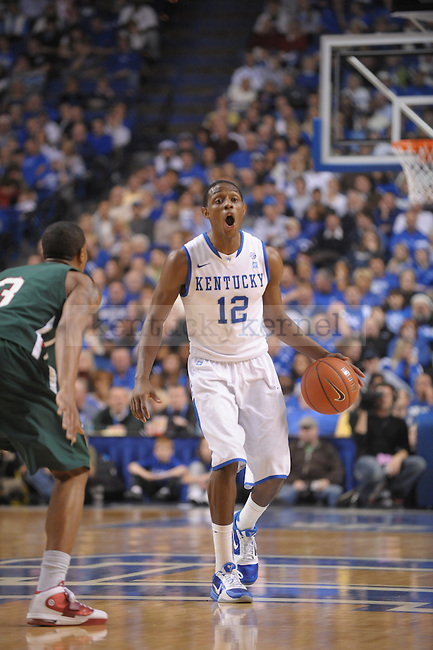 UK's Brandon Knight setting up the offense during the second half of the University of Kentucky Men's basketball game against Mississippi Valley State at Rupp Arena in Lexington, Ky., on 12/18/10. Uk won the game 85-60. Photo by Mike Weaver | Staff