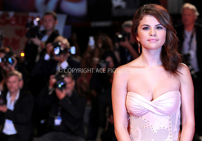 WWW.ACEPIXS.COM....US SALES ONLY....September 5, 2012, Venice, Italy.....Selena Gomez arriving at the premiere of 'Spring Breakers' on September 5, 2012 in Venice, Italy at the Venice Film Festival.........By Line: Famous/ACE Pictures....ACE Pictures, Inc..Tel: 646 769 0430..Email: info@acepixs.com