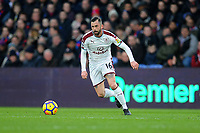 Burnley's Steven Defour<br /> <br /> Photographer Ashley Crowden/CameraSport<br /> <br /> The Premier League - Crystal Palace v Burnley - Saturday 13th January 2018 - Selhurst Park - London<br /> <br /> World Copyright &copy; 2018 CameraSport. All rights reserved. 43 Linden Ave. Countesthorpe. Leicester. England. LE8 5PG - Tel: +44 (0) 116 277 4147 - admin@camerasport.com - www.camerasport.com