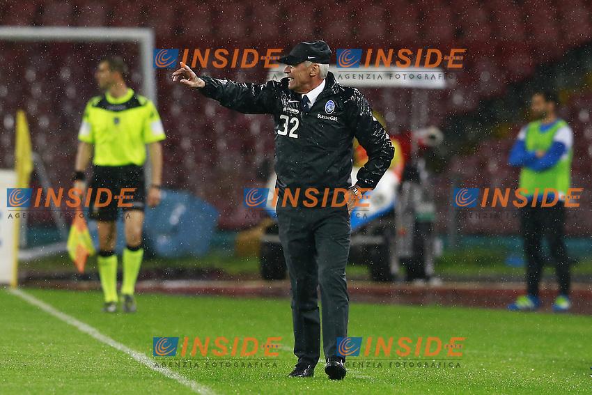 Edoardo Reja Atalanta,  <br /> Napoli 02-05-2016 Stadio San Paolo<br /> Football Calcio Serie A 2015/2016 Napoli - Atalanta<br /> Foto Cesare Purini / Insidefoto