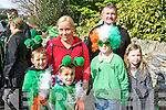 ST PATRICK'S DAY: Enjoying the Killorglin St Patrick's Day parade on Saturday l-r: Patryk, Ilona and Adam Tajchert and Hugh, Dan and Vivenne Hurley...