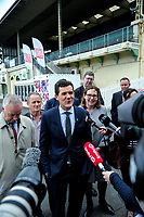 Wellington mayor Justin Lester. NZ Cricket Museum Stand renovation announcement at the Basin Reserve in Wellington, New Zealand on Thursday, 10 May 2018. Photo: Dave Lintott / lintottphoto.co.nz