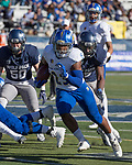 San Jose State's Tyler Nevens (23) runs against Nevada in the first half of an NCAA college football game in Reno, Nev. Saturday, Nov. 11, 2017. (AP Photo/Tom R. Smedes)