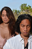 Stock Photo couple in Meditation and Yoga