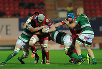 Scarlets' Jake Ball in action during todays match<br /> <br /> Photographer Ashley Crowden/CameraSport<br /> <br /> Guinness PRO12 Round 19 - Scarlets v Benetton Treviso - Saturday 8th April 2017 - Parc y Scarlets - Llanelli, Wales<br /> <br /> World Copyright &copy; 2017 CameraSport. All rights reserved. 43 Linden Ave. Countesthorpe. Leicester. England. LE8 5PG - Tel: +44 (0) 116 277 4147 - admin@camerasport.com - www.camerasport.com