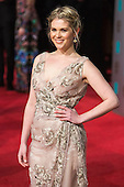 London, UK. 14 February 2016. Hannah Arterton. Red carpet arrivals for the 69th EE British Academy Film Awards, BAFTAs, at the Royal Opera House. © Vibrant Pictures/Alamy Live News
