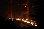 Golden Gate Bridge at night from San Francisco