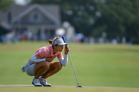 Azahara Munoz (ESP) looks over her long birdie attempt on 1 during round 4 of the 2019 US Women's Open, Charleston Country Club, Charleston, South Carolina,  USA. 6/2/2019.<br /> Picture: Golffile | Ken Murray<br /> <br /> All photo usage must carry mandatory copyright credit (© Golffile | Ken Murray)