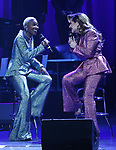 Cynthia Erivo and Shoshana Bean performing in The 2nd Annual Night Divine Holiday Concert at the Apollo Theatre on December 16, 2019 in New York City.