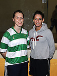 Karen Lawlor and Lorraine Havern pictured at the new handball courts at O'Raghalligh's. Photo: Colin Bell/pressphotos.ie