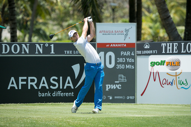 Oliver Wilson (ENG) during the 1st round of the AfrAsia Bank Mauritius Open, Four Seasons Golf Club Mauritius at Anahita, Beau Champ, Mauritius. 29/11/2018<br /> Picture: Golffile | Mark Sampson<br /> <br /> <br /> All photo usage must carry mandatory copyright credit (© Golffile | Mark Sampson)