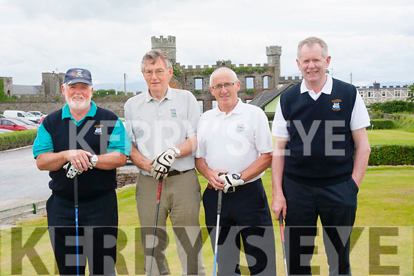 John Lohan, James O'Sullivan, Eamonn Stack and Joseph O'Connor, four members of the 10 strong Ballyheigue golf team who played East Cork on Friday evening in the JB Carr Munster Semi-Final at Ballyheigue Castle Golf Course.
