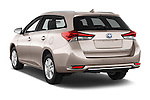 Car pictures of rear three quarter view of 2015 Toyota Auris Touring Sports Business Plus 5 Door Wagon Angular Rear