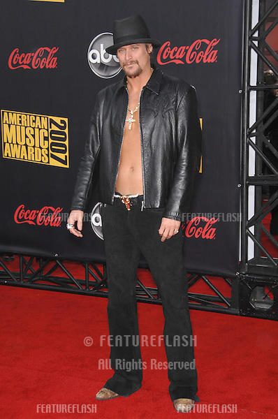 Kid Rock at the 2007 American Music Awards at the Nokia Theatre, Los Angeles..November 19, 2007  Los Angeles, CA.Picture: Paul Smith / Featureflash
