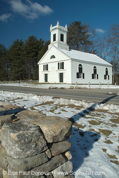 Union Meeting House in the historical district of Kensington, New Hampshire USA
