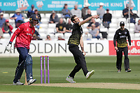 David Payne in bowling action for Gloucestershire during Essex Eagles vs Gloucestershire, Royal London One-Day Cup Cricket at The Cloudfm County Ground on 7th May 2019