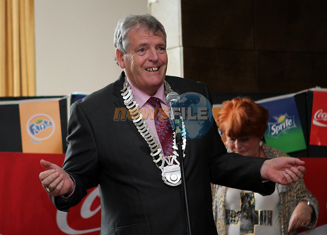 Cllr Finian McCoy, Chairman of Louth County Council at the Launch of the Samba Festival at the d Hotel....Photo NEWSFILE/Jenny Matthews.
