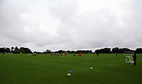 Pictured: Players train on the pitch. Tuesday 11 July 2017<br /> Re: Swansea City FC training at Fairwood training ground, UK