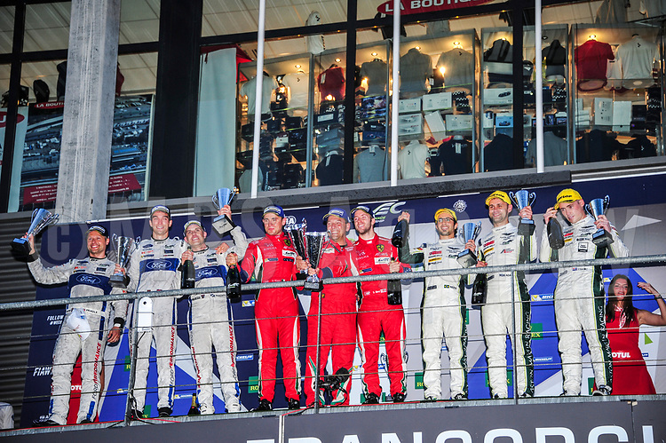 LMGTE PRO FIRST PLACE #71 AF CORSE (ITA) FERRARI 488 GTE LMGTE PRO DAVIDE RIGON (ITA) SAM BIRD (GBR) SECOND PLACE #67 FORD CHIP GANASSI TEAM UK (USA) FORD GT LMGTE PRO MARINO FRANCHITTI (GBR) ANDY PRIAULX (GBR) HARRY TINCKNELL (GBR) THIRD PLACE #97 ASTON MARTIN RACING (GBR) ASTON MARTIN VANTAGE LMGTE PRO RICHIE STANAWAY (NZL) FERNANDO REES (BRA) JONATHAN ADAM (GBR)