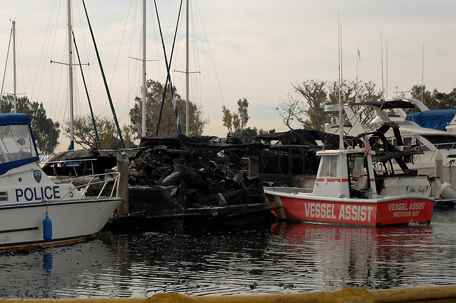 four boats destroyed at marina