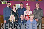 RUBY: John and Marie Griffin (Billinakilla, Glenbeigh) enjoy their 40th wedding anniversary in the.company of their family in The Fishery Bar, Killorglin, last Saturday. Front l-r: Justine OShea, John.and Marie Griffin. Back l-r: Mike, Nora, Pat, Margaret and John scene and heard... Griffin.