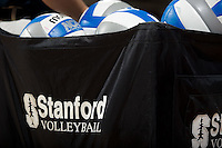 STANFORD, CA - September 2, 2010: Volleyballs during a volleyball match against UC Irvine in Stanford, California. Stanford won 3-0.