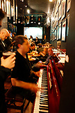 USA, California, San Francisco, NOPA, Madrone Art Bar, piano by D.J. Lebowitz
