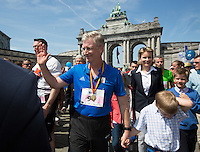 King Philippe of Belgium participates at the 35th Brussels' 20km running race - Belgium