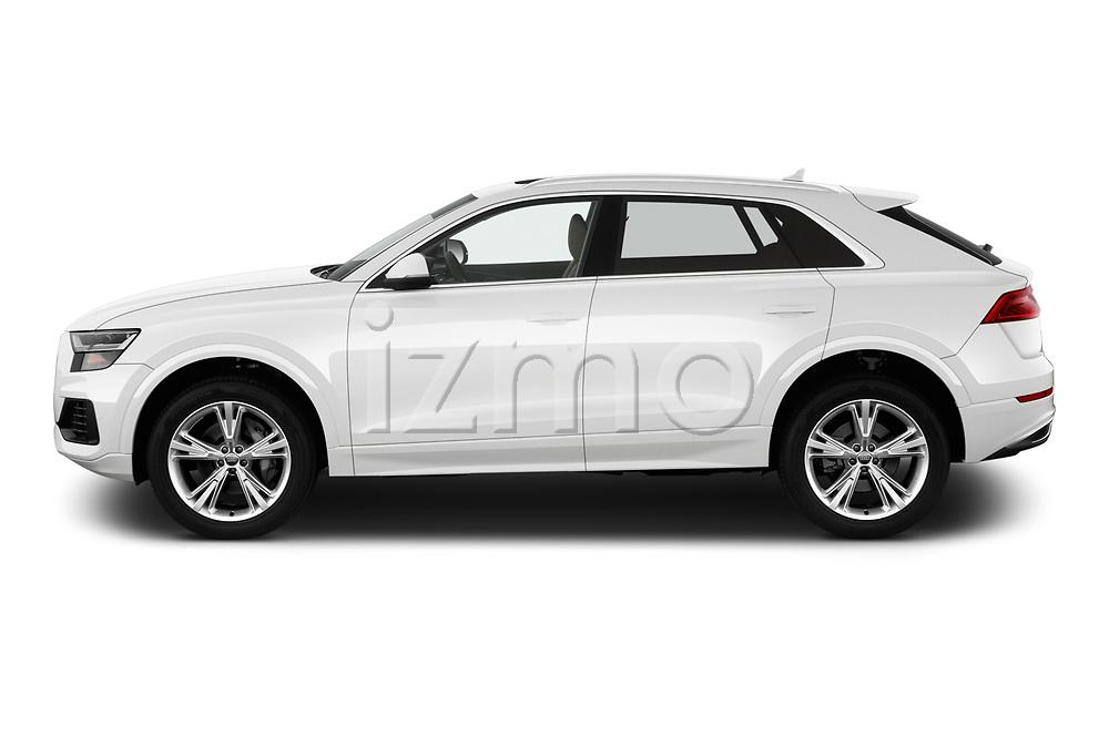 Car driver side profile view of a 2019 Audi q8 Premium Plus 5 Door SUV